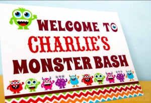 Colorful Monster Party via KarasPartyIdeas.com #MonsterParty #boy #monster #party #idea (13)