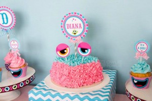 Girly Monster Baby Shower via KarasPartyIdeas.com #monster #baby #shower #girl #idea #planning (11)