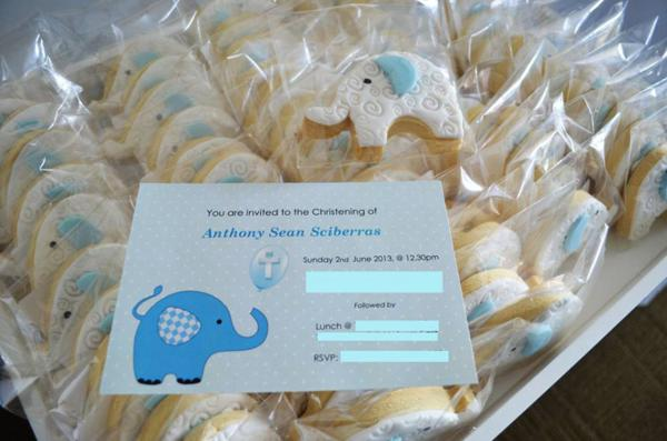 Blue Elephant Christening Party via Kara's Party Ideas | KarasPartyIdeas.com #blue #elephant #boy #christening #baptism #party #ideas (6)
