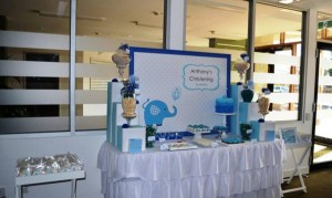 Blue Elephant Christening Party via Kara's Party Ideas | KarasPartyIdeas.com #blue #elephant #boy #christening #baptism #party #ideas (5)