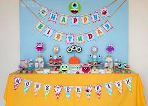 Colorful Monster Party via KarasPartyIdeas.com #MonsterParty #boy #monster #party #idea (12)