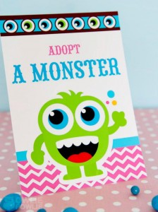 Girly Monster Baby Shower via KarasPartyIdeas.com #monster #baby #shower #girl #idea #planning (10)