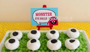 Colorful Monster Party via KarasPartyIdeas.com #MonsterParty #boy #monster #party #idea (9)