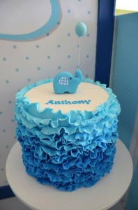 Blue Elephant Christening Party via Kara's Party Ideas | KarasPartyIdeas.com #blue #elephant #boy #christening #baptism #party #ideas (3)