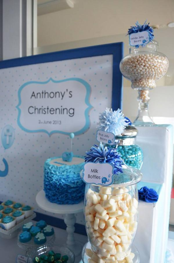 Blue Elephant Christening Party via Kara's Party Ideas | KarasPartyIdeas.com #blue #elephant #boy #christening #baptism #party #ideas (1)