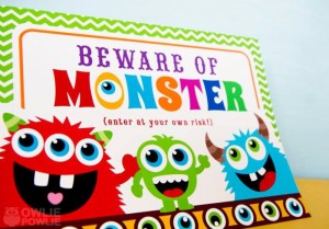 Colorful Monster Party via KarasPartyIdeas.com #MonsterParty #boy #monster #party #idea (6)