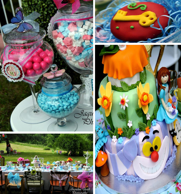 Southern blue celebrations alice in wonderland party - Alice in the wonderland party decorations ...