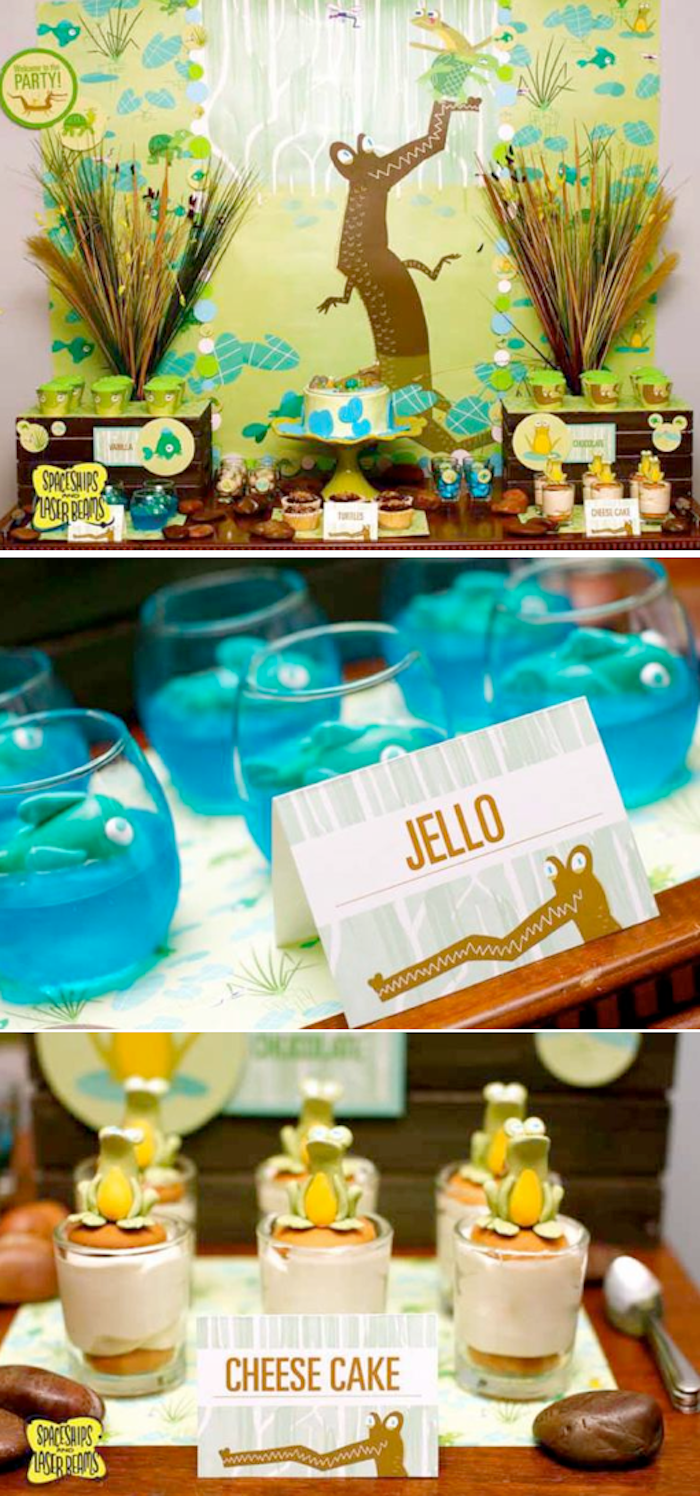 Alligator Bayou Bash Birthday Party With SO Many Cute Ideas Via Karas