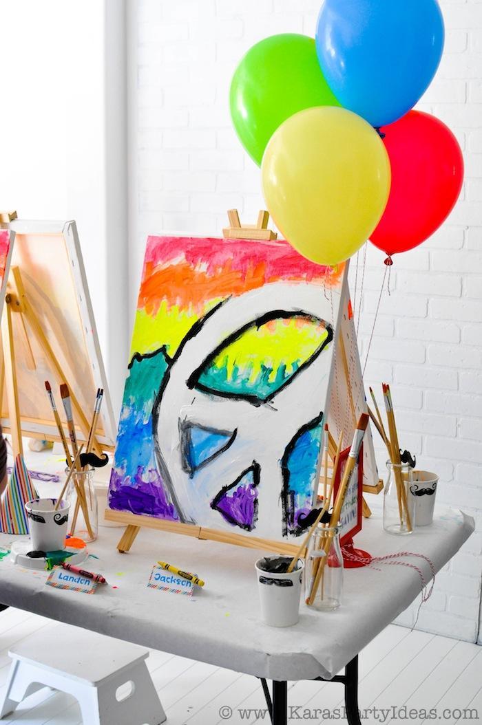 Kara S Party Ideas Art Themed Colorful Birthday Party Via