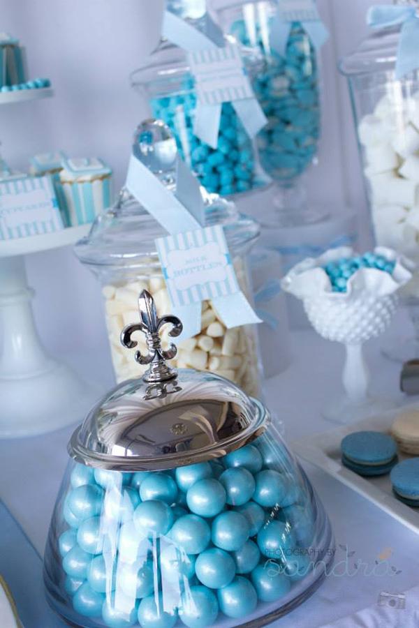 Blue Christening Birthday Party Via Kara S Ideas Spartyideas