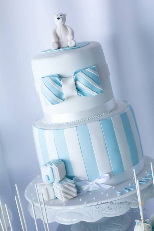 Blue Christening Birthday Party via Kara's Party Ideas | Kara'sPartyIdeas.com #blue #christening #birthday #party #supplies #ideas (2)