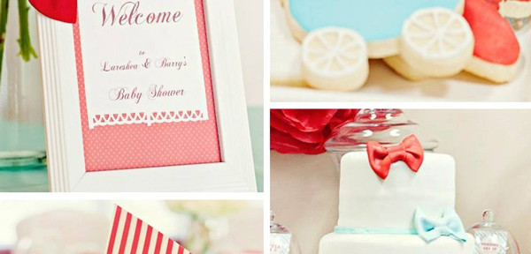 Bow Tie Baby Shower with Lots of Ideas via Kara's Party Ideas | Kara'sPartyIdeas.com #bow #tie #baby #shower #supplies #ideas