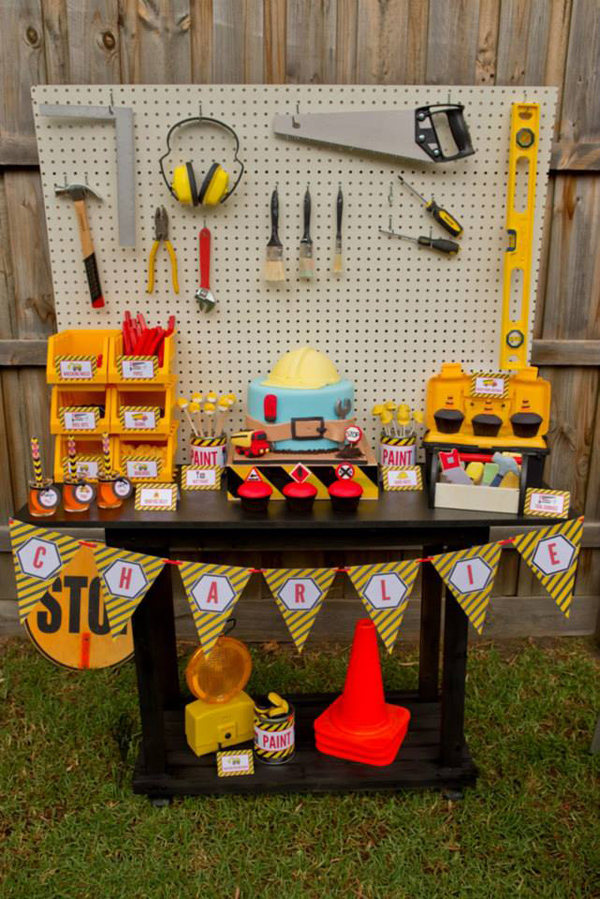 Construction Birthday Party via Kara's Party Ideas | Kara'sPartyIdeas.com #construction #birthday #party #supplies #ideas (25)
