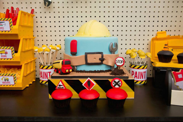 Construction Birthday Party via Kara's Party Ideas | Kara'sPartyIdeas.com #construction #birthday #party #supplies #ideas (23)