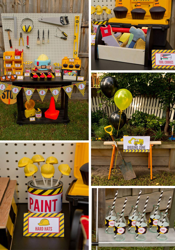 Construction Birthday Party with LOTS of FUN Ideas via Kara's Party Ideas | KarasPartyIdeas.com #construction #birthday #party #supplies #ideas
