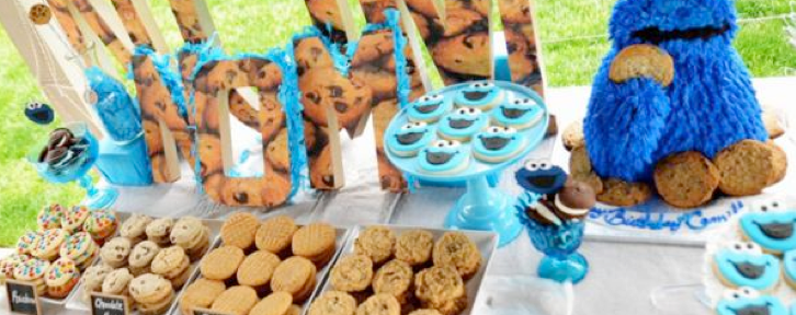 Cookie Monster Themed Birthday Party via Kara's Party Ideas KarasPartyIDeas.com #cookie #monster #themed #birthday #party #ideas #idea