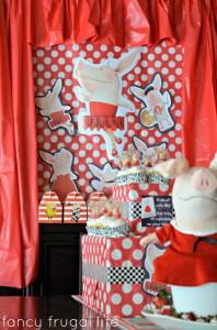 Budget Friendly Olivia Pig Birthday Party via Kara