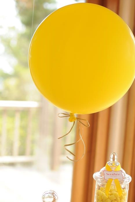 Sunshine Birthday Party via Kara's Party Ideas #yellow #FirstBirthday #party #idea #decorations #sunshine (68)