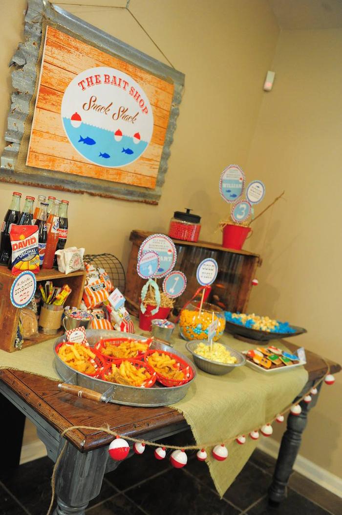 Kara's Party Ideas Gone Fishing Birthday Party Via Kara's