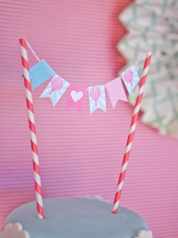 Vintage Hot Air Balloon Baby Shower via Kara's Party Ideas   Kara's Party Ideas #vintage #hot #air #balloon #baby #shower #ideas #supplies (6)