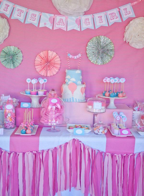 Vintage Hot Air Balloon Baby Shower via Kara's Party Ideas   Kara's Party Ideas #vintage #hot #air #balloon #baby #shower #ideas #supplies (17)