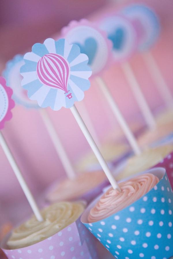 Vintage Hot Air Balloon Baby Shower via Kara's Party Ideas   Kara's Party Ideas #vintage #hot #air #balloon #baby #shower #ideas #supplies (14)