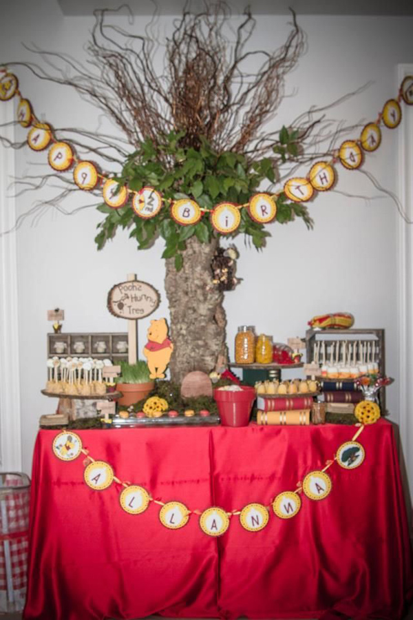 Winnie The Pooh Hundred Acre Wood Party via Kara's Party Ideas | Kara'sPartyIdeas.com #winnie #the #pooh #hundred #acre #wood #ideas #supplies (30)
