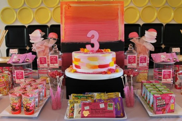 Girly Art Party via KarasPartyIdeas.com #girl #art #party #idea #decorations (5)