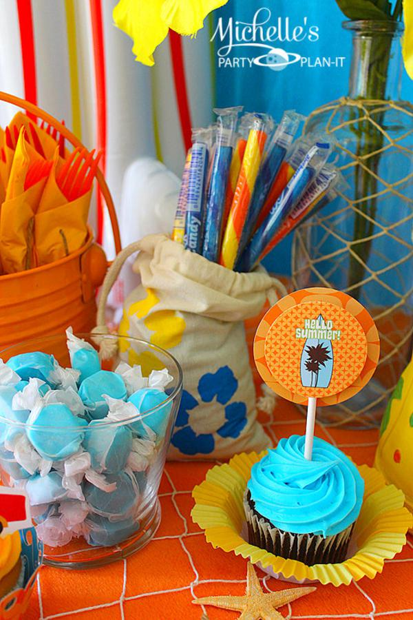 Hello Summer Surf Party via Kara's Party Ideas | KarasPartyIdeas.com #hello #summer #surf #beach #party #ideas (28)