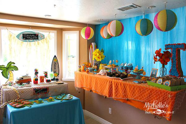 beach party decorations for adults