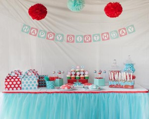 Aqua and Red Polka Dot Party via Kara's Party Ideas | KarasPartyIdeas.com #red #aqua #polka #dot #party #ideas (43)