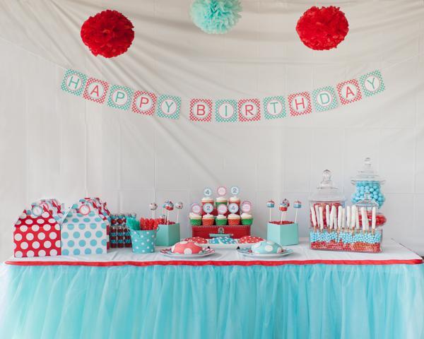 Aqua and Red Polka Dot Party via Kara's Party Ideas | KarasPartyIdeas.com #red #aqua #polka #dot #party #ideas (43)