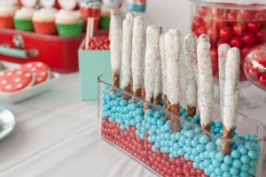 Aqua and Red Polka Dot Party via Kara's Party Ideas | KarasPartyIdeas.com #red #aqua #polka #dot #party #ideas (39)