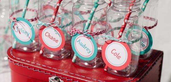 Aqua and Red Polka Dot Party via Kara's Party Ideas | KarasPartyIdeas.com #red #aqua #polka #dot #party #ideas (33)