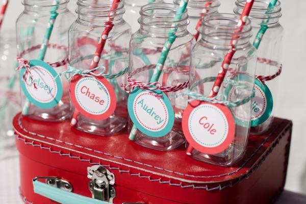 Kara S Party Ideas Red Aqua Gender Neutral Polka Dot Party