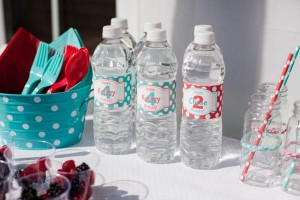 Aqua and Red Polka Dot Party via Kara's Party Ideas | KarasPartyIdeas.com #red #aqua #polka #dot #party #ideas (31)