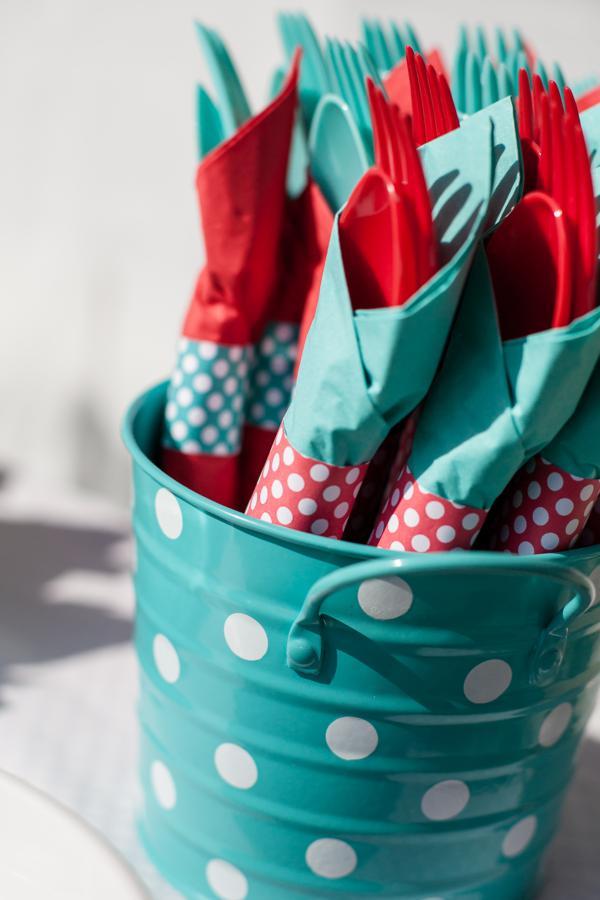 Aqua and Red Polka Dot Party via Kara's Party Ideas | KarasPartyIdeas.com #red #aqua #polka #dot #party #ideas (27)