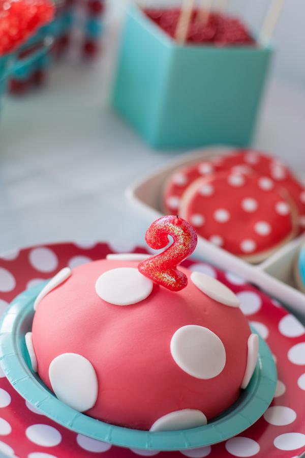 Aqua and Red Polka Dot Party via Kara's Party Ideas | KarasPartyIdeas.com #red #aqua #polka #dot #party #ideas (10)