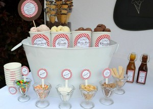 Old Fashioned Ice Cream Parlor Birthday Party via Kara's Party Ideas | Kara'sPartyIdeas.com #old #fashioned #ice #cream #parlor #birthday #party #supplies #ideas (17)