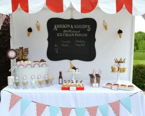 Old Fashioned Ice Cream Parlor Birthday Party via Kara's Party Ideas | Kara'sPartyIdeas.com #old #fashioned #ice #cream #parlor #birthday #party #supplies #ideas (14)