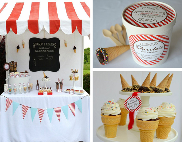 Kara S Party Ideas Old Fashioned Ice Cream Parlor Birthday