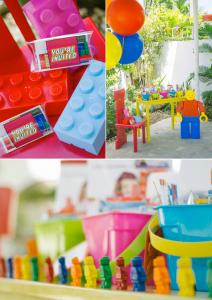 LEGO THEMED BIRTHDAY PARTY with so many cute ideas! Via KAra's Party Ideas KarasPartyIdeas.com #lego #boy #girl #themed #birthday #party #ideas #planning #supplies #decor #idea