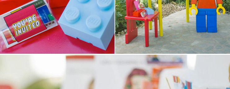 LEGO THEMED BIRTHDAY PARTY with so many cute ideas! Via KAra's Party Ideas KarasPartyIdeas.com #lego #boy #girl #themed #birthday #party #ideas #planning #supplies #decor #idea
