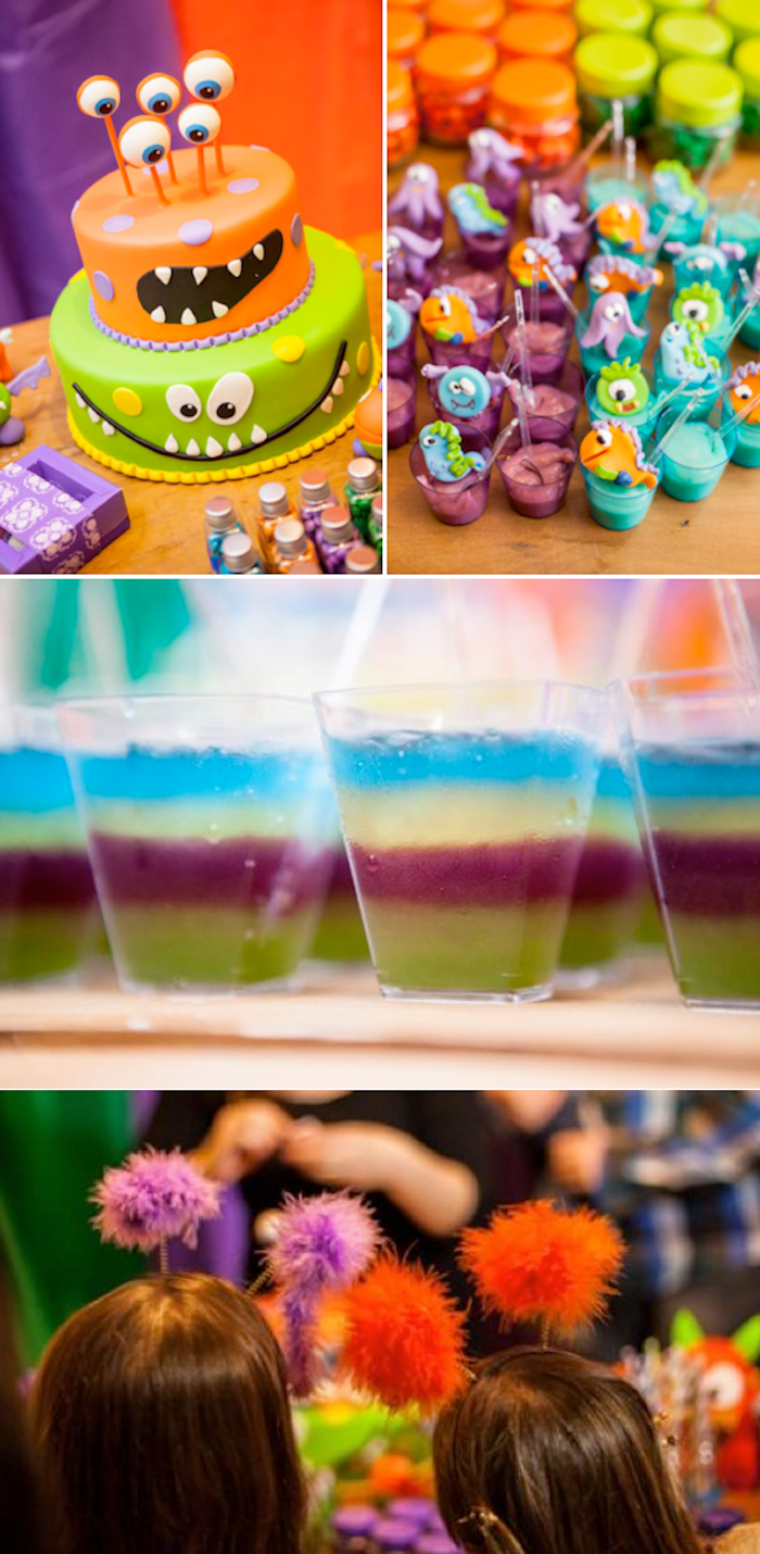 Lil Monster themed Birthday Party with TONS of cute and easy ideas! Via Kara's Party Ideas KarasPartyIdeas.com #monster #themed #birthday #party #ideas #idea #little #decorating #supplies #birthday #cake #idea #cupcakes #ideas