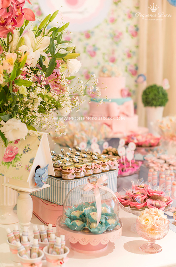 Little Birds Pink and Blue Party via Kara's Party Ideas | Kara'sPartyIdeas.com #little #birds #pink #and #blue #party #ideas #supplies (32)