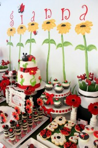 Lovebug 2nd Birthday Party via Kara's Party Ideas | Kara'sPartyIdeas.com #lovebug #ladybug #2nd #birthday #party #ideas #supplies #decorations (6)