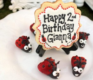 Lovebug 2nd Birthday Party via Kara's Party Ideas | Kara'sPartyIdeas.com #lovebug #ladybug #2nd #birthday #party #ideas #supplies #decorations (5)