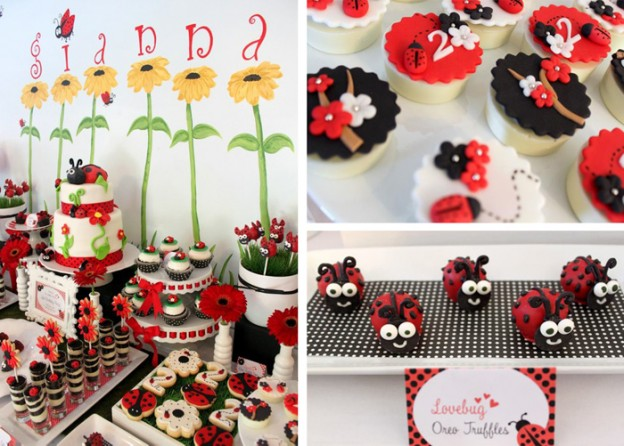 Lovebug 2nd Birthday Party with LOTS of Ideas via Kara's Party Ideas | Kara'sPartyIdeas.com #lovebug #ladybug #2nd #birthday #party #ideas #supplies #decorations