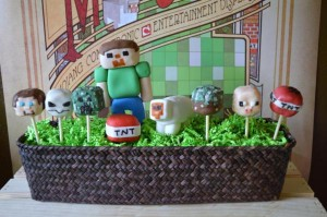 Vintage Minecraft Party via Kara's Party Ideas | KarasPartyIdeas.com #vintage #minecraft #mine #craft #video #game #party #ideas (20)