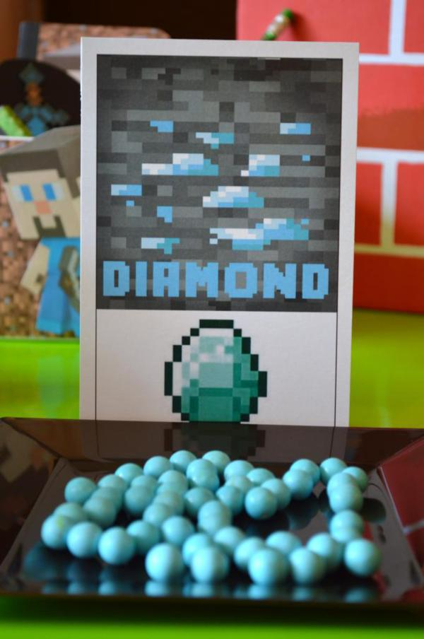 Vintage Minecraft Party via Kara's Party Ideas | KarasPartyIdeas.com #vintage #minecraft #mine #craft #video #game #party #ideas (5)